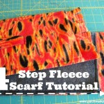 4 step fleece scarf tutorial |kids love them! | patchwork posse #winter #scarf #freepattern