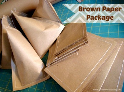 use brown paper to wrap or mail a litlte present. patchwork posse