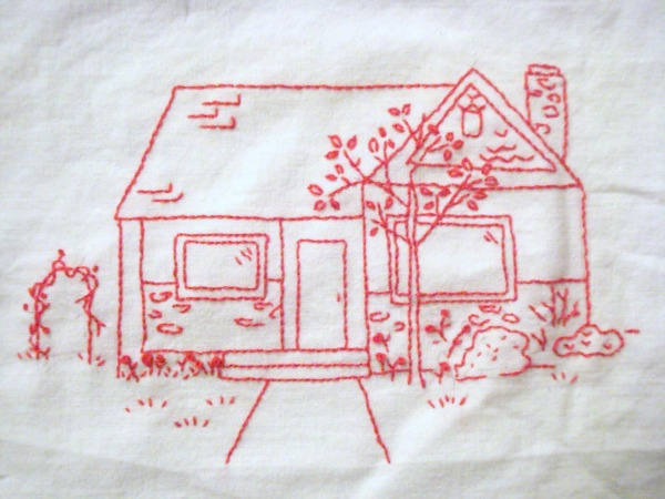 Embroidery tutorial- how to make your picture into a stitchery template.   patchwork posse #embroidery #redwork