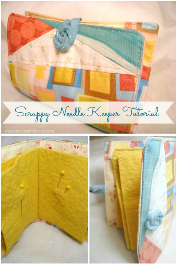 Sew up a needle keeper using scraps and bits. Techniques-- quilt as you go or foundation piecing. Super easy and great for beginners!scrappy needle book keeper tutorial | patchwork posse