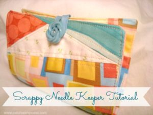 Needle Keeper Tutorial using your fabric scraps / patchworkposse.com #tutorial