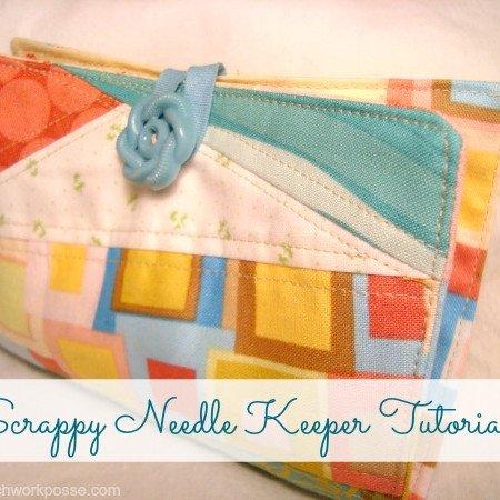 Needle Keeper Tutorial using your fabric scraps / patchworkposse.com #tutorial