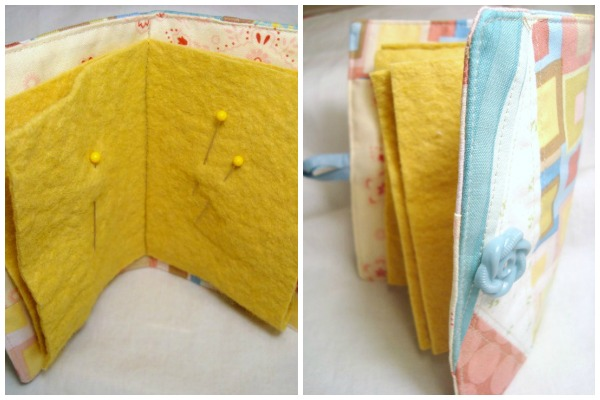 easy sewing projects needle book tutorial / patchworkposs.com
