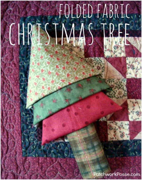 This super cute and easy to make 3 fat quarter tree is perfect for any occasion.  Learn how you can quickly fold the fabric to make the tree.