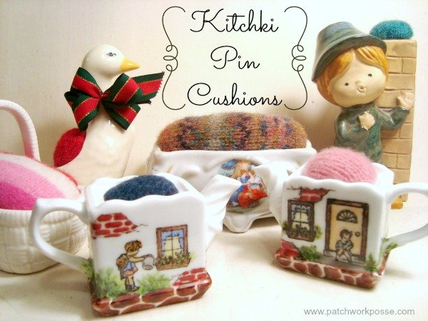 Make kitchki pincushions -a tutorial / patchworkposse.com #pincushions #tutorial #kitchki