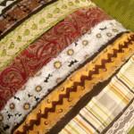 Strip Pillow Tutorial using scrap fabric and ribbon