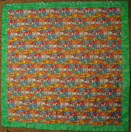 how to bind a quilt big border 1