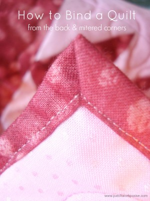 How to bind your quilting using your backing fabric | quick and easy | patchwork posse
