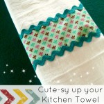 Cutesy up your Kitchen Towels Tutorial