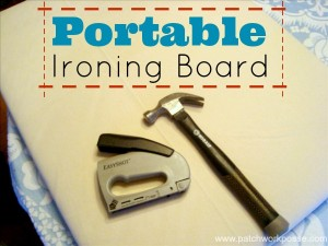 portable ironing board tutorial | easy and great for sewing retreats | patchwork posse #ironing #tutorial