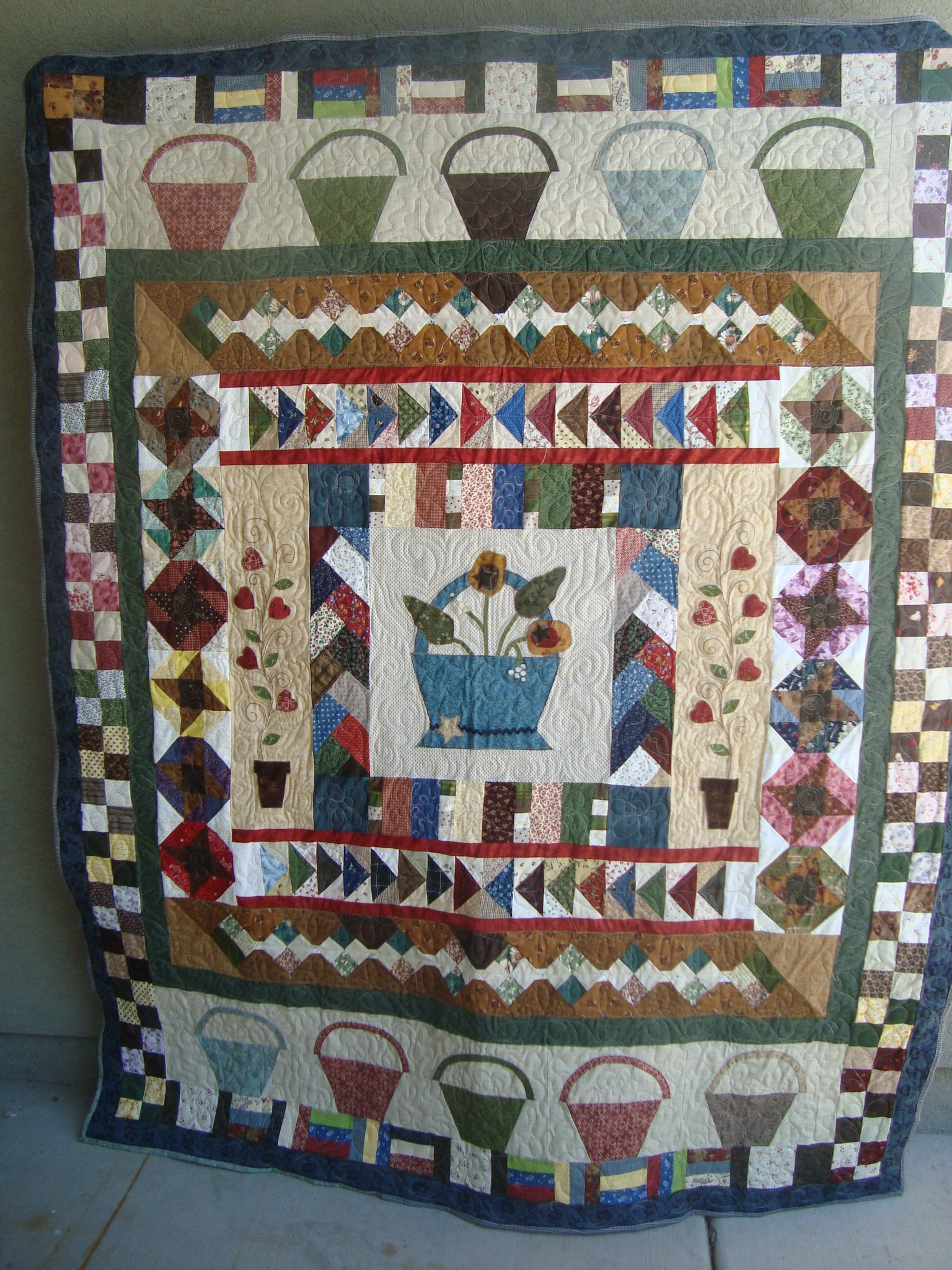 Round Robin Quilt — Quilting and Labeling