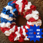 Holiday Fabric Scrap Wreath- tutorial and free pattern