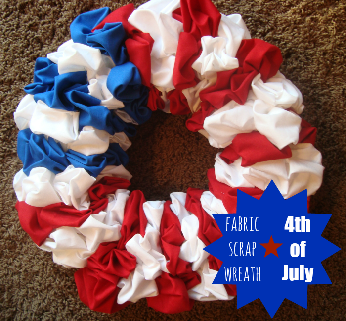 a scrap fabric flag wreath tutorial