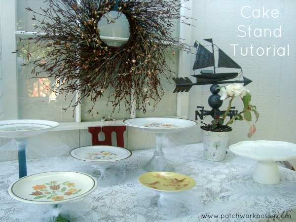 Cake Stand Tutorial Patchwork Posse