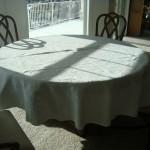 Bedspread to Tablecloth tutorial