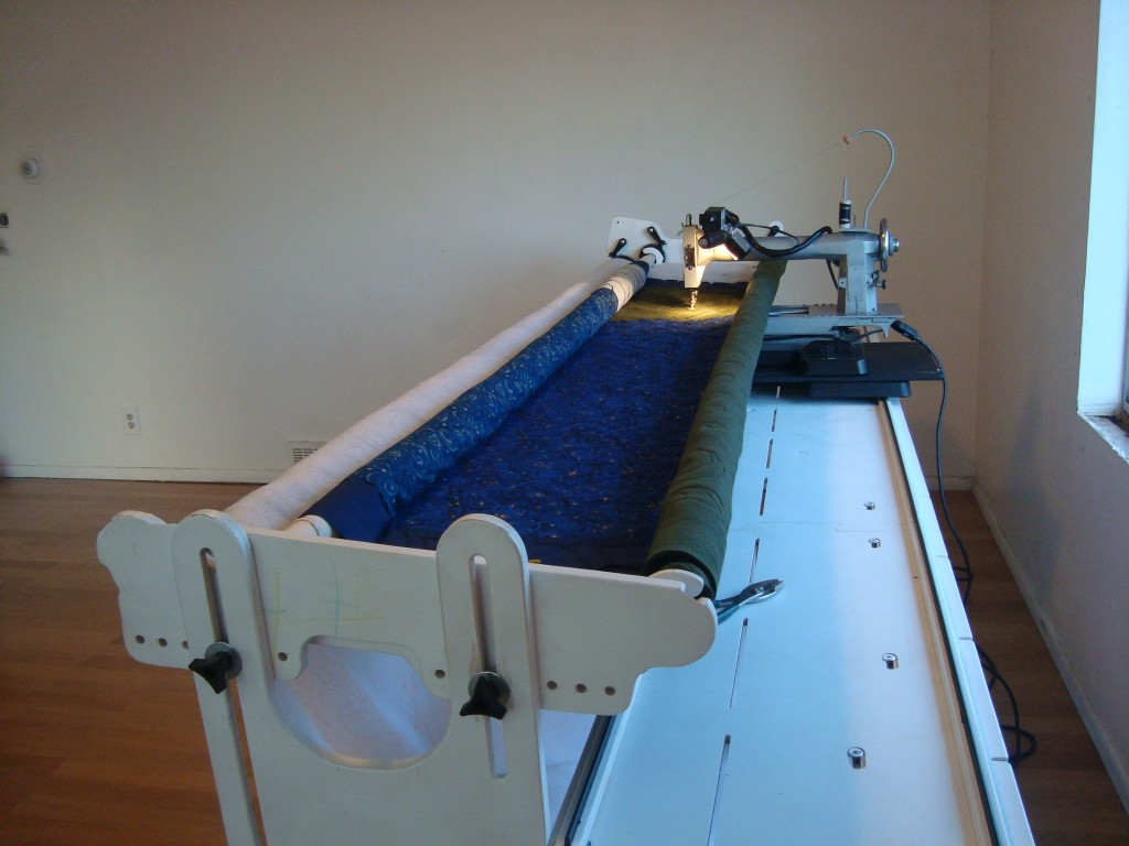 machine quilting with a long arm. it's not that hard!