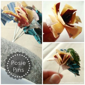 Posie Flower Pin Tutorial | patchwork posse #needles #pins #quilt
