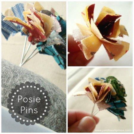 Posie Flower Pin Tutorial   patchwork posse #needles #pins #quilt