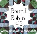Round Robin 3 Pinwheel Row with Patchwork Posse