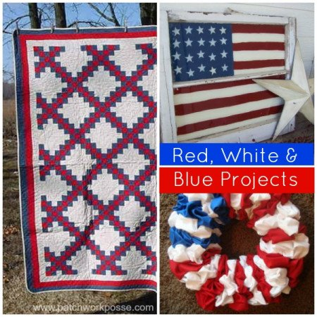 red white blue projects to sew for the 4th of july   patchworkposse #freepatterns #holiday #summer