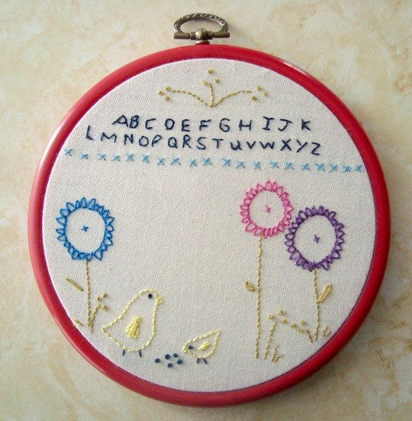 embroidery stitches sampler