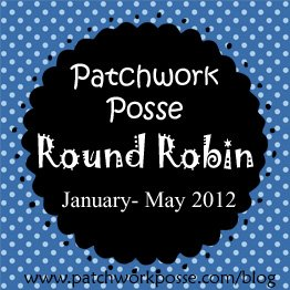 Patchwork Round Robin Row #8 with Peggy