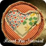 Heart Pin Tutorial Raw Edge Applique