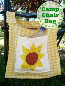 Camp chair bag sewing project for kids