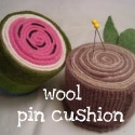 Rolled Wool Pincushion. Super easy