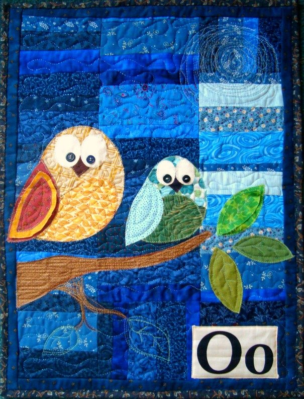 "Free Pattern- ""O"" is for Owl Wall hanging"