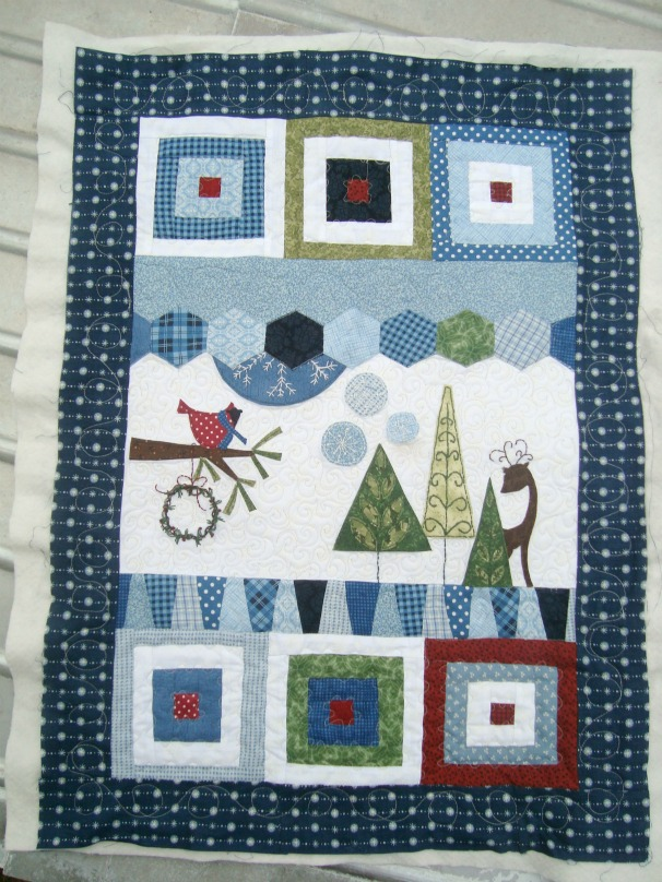 wonky winter quilt
