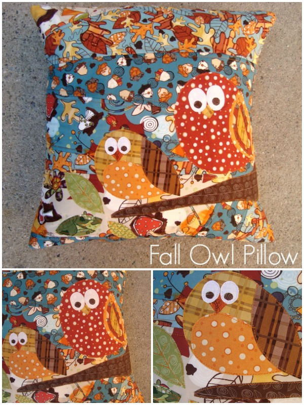 fall owl pillow tutorial | patchworkposse #fall #owl #applique #quilting