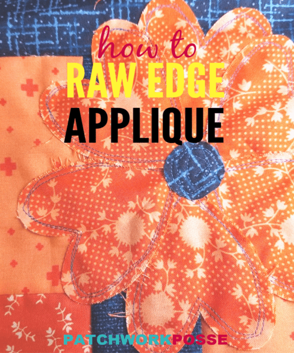 Raw edge applique is a great way to quickly stitch down your applique. The raw edge will ravel a bit with use. Super cute and simple, plus a video to help.