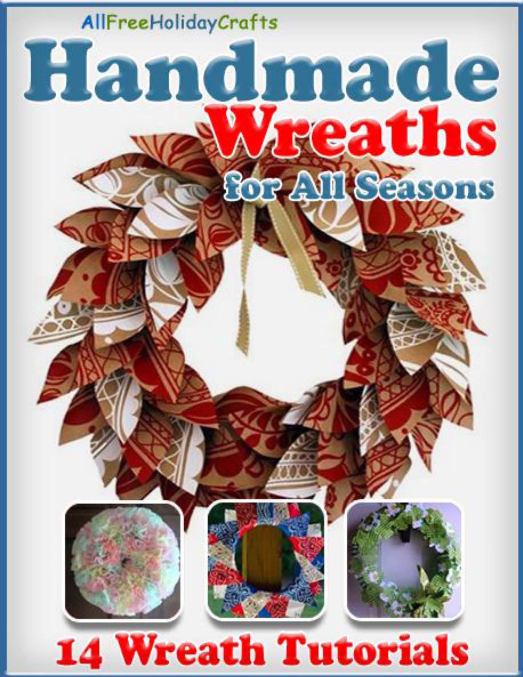 4th of July door wreath tutorial with scrap fabric