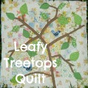 leafy tree tops sew along
