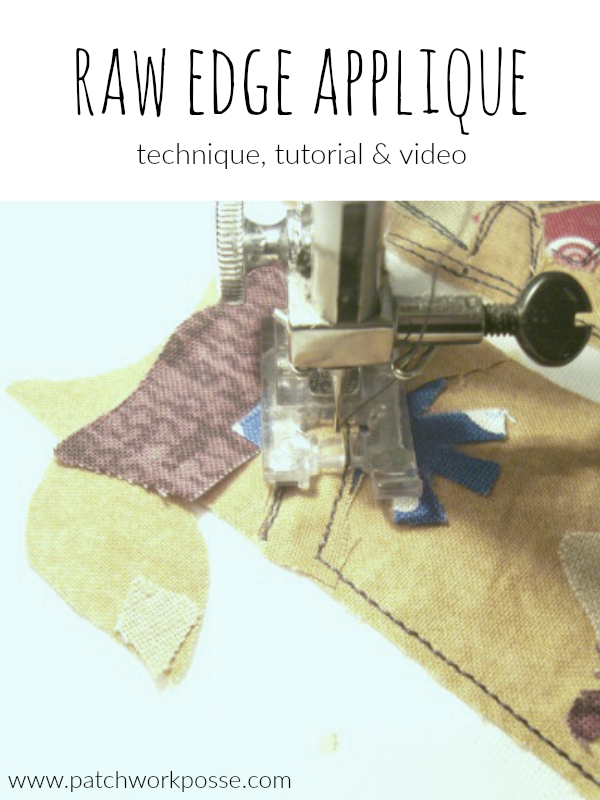 raw edge applique technique, tutorial and video. I love this method of applique! So easy and simple to do.
