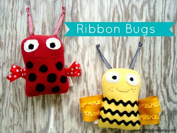 ribbon bugs pattern   patchwork posse #freepattern