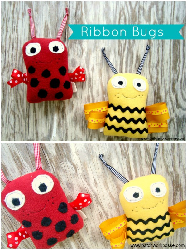 ribbon bugs pattern | patchwork posse #freepattern