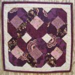 purple pansies doll quilt