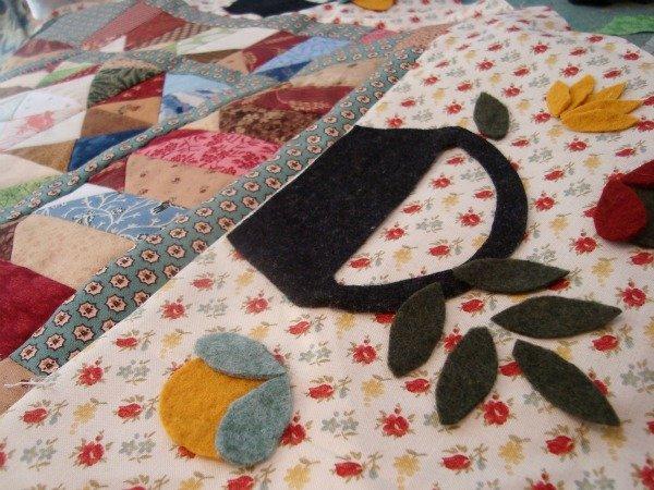 Wool Applique Stitching