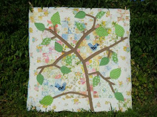 leafy treetops quilt