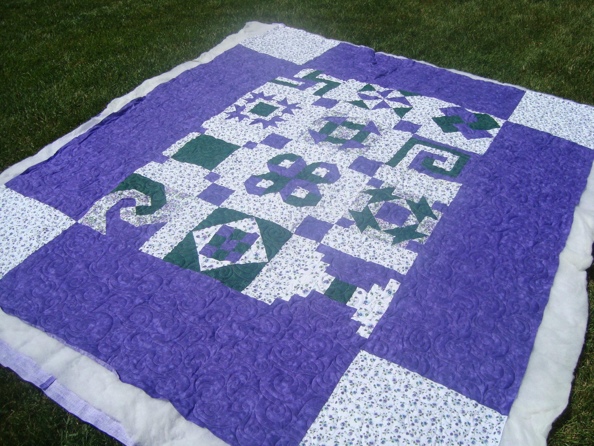 big purple quilt