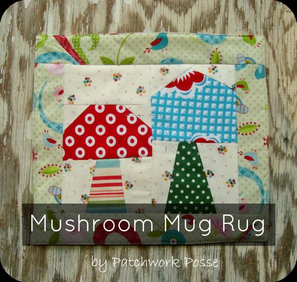 mushroom mug rug