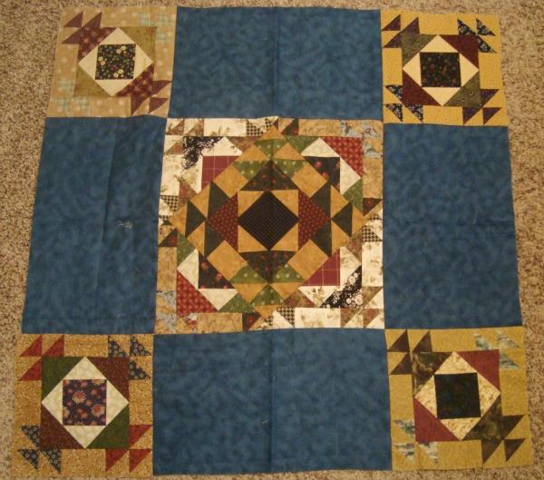 blue star quilt top