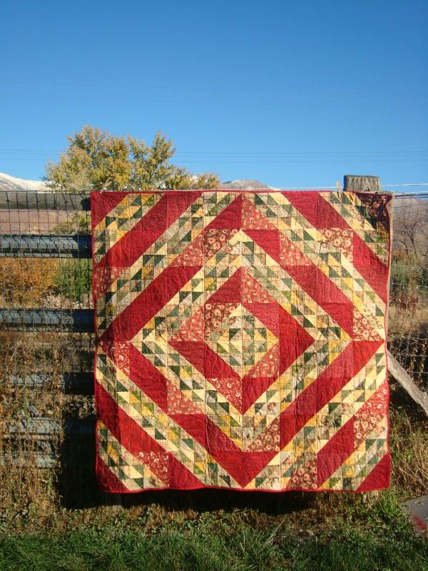 primitive gathering quilt