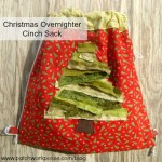 overnighter christmas cinch sack