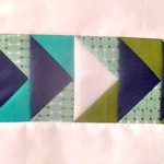 flying geese quilt block row