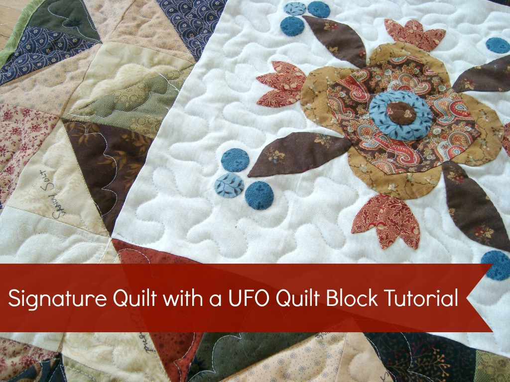 Use ufo quilt blocks to make a signature quilt. #wedding gift #quilt #tutorial https://www.patchworkposse.com/signature-quilt-tutorial-52-ufo-quilt-block/