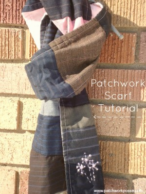 patchwork scarf tutorial | patchwork posse #crafts #sewing #winter