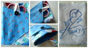 turn your ufo quilt block into a scissor keeper / patchwork posse